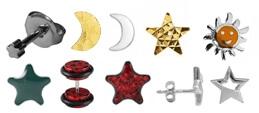 Ohrstecker Sonne, Mond & Sterne