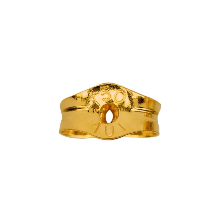 Ohrsteckerverschluss Gelbgold 18K Ohrmutter
