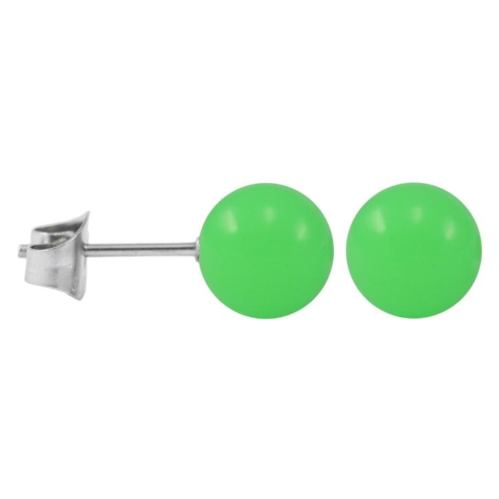 Ohrstecker Chirurgenstahl Neonfarben grün 5 mm