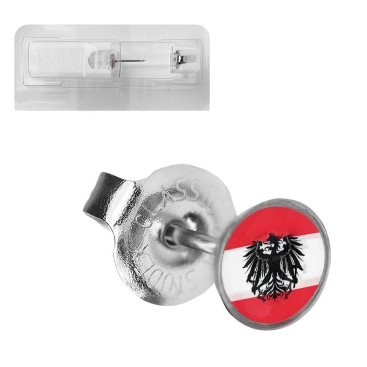 Erstohrstecker Chirurgenstahl Flagge Österreich