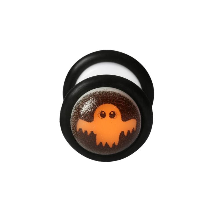 Fake Plug Halloween Ohrstecker im Dunkeln leuchtend Gespenst 12mm