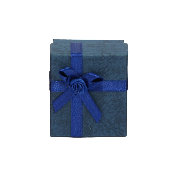 Ohrstecker Schmuckbox in blau