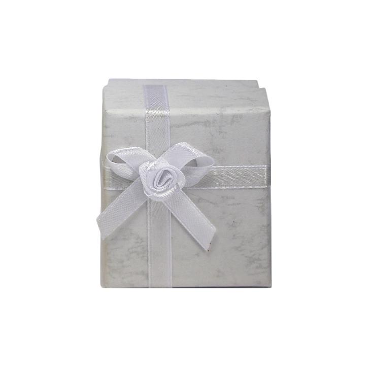 Ohrstecker Schmuckbox in weiß