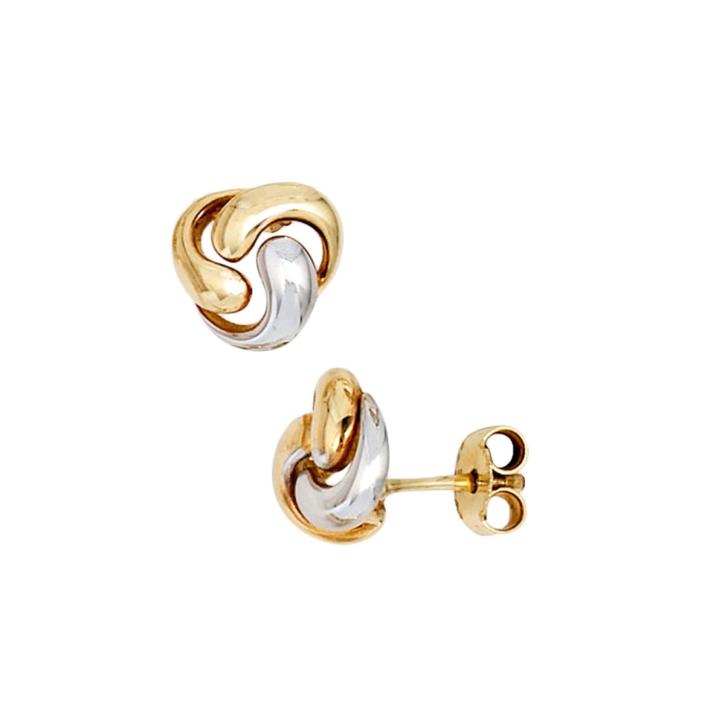 Gold Ohrstecker Knoten verschlungen 333er Gelbgold bicolor