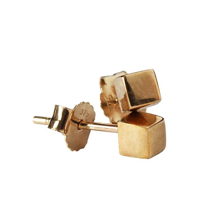 Goldohrstecker 375 Gold mit Würfel 3mm