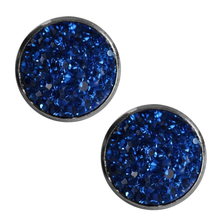 kristalliner modeschmuck ohrstecker in blau. Black Bedroom Furniture Sets. Home Design Ideas