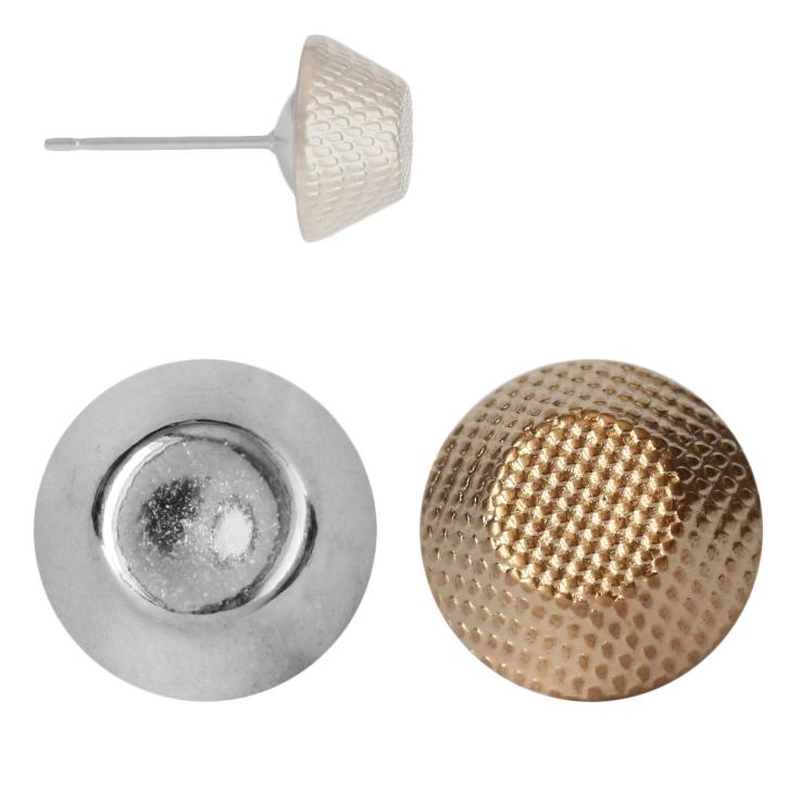 Modeschmuck Ohrstecker im Metall-Look