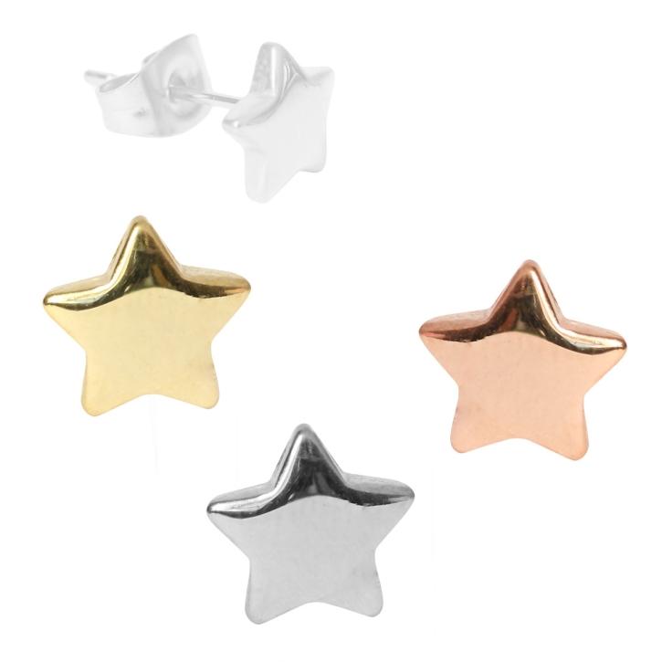 Modeschmuck Ohrstecker Sterne in verschiedenen Farben