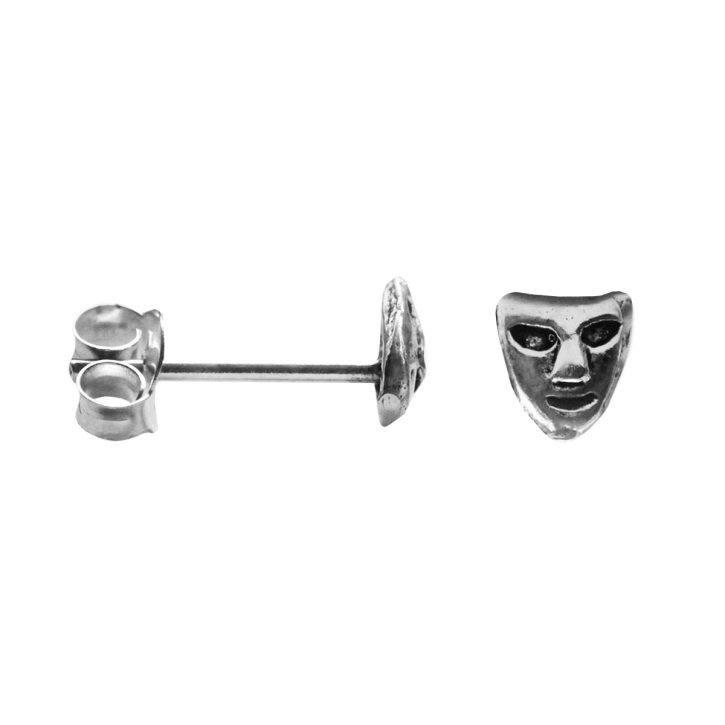 Ohrstecker Maske in 925 Silber