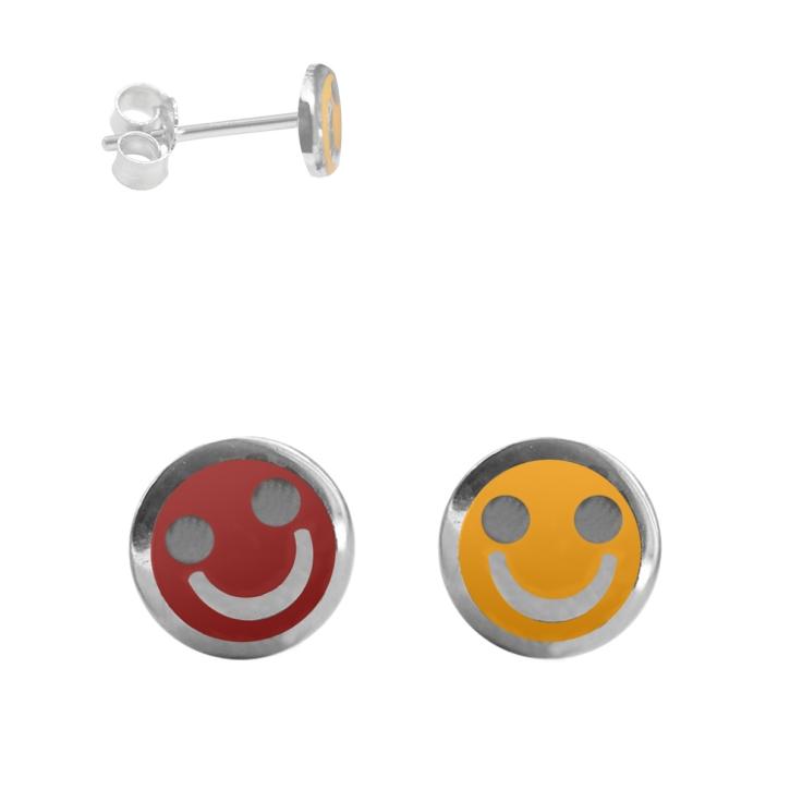 Ohrstecker mit Smiley in verschiedenen Farben