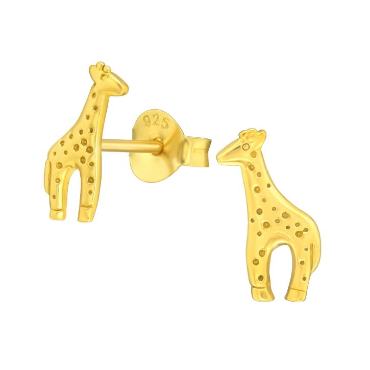 925 Sterling Silber Ohrstecker vergoldet mit Giraffe