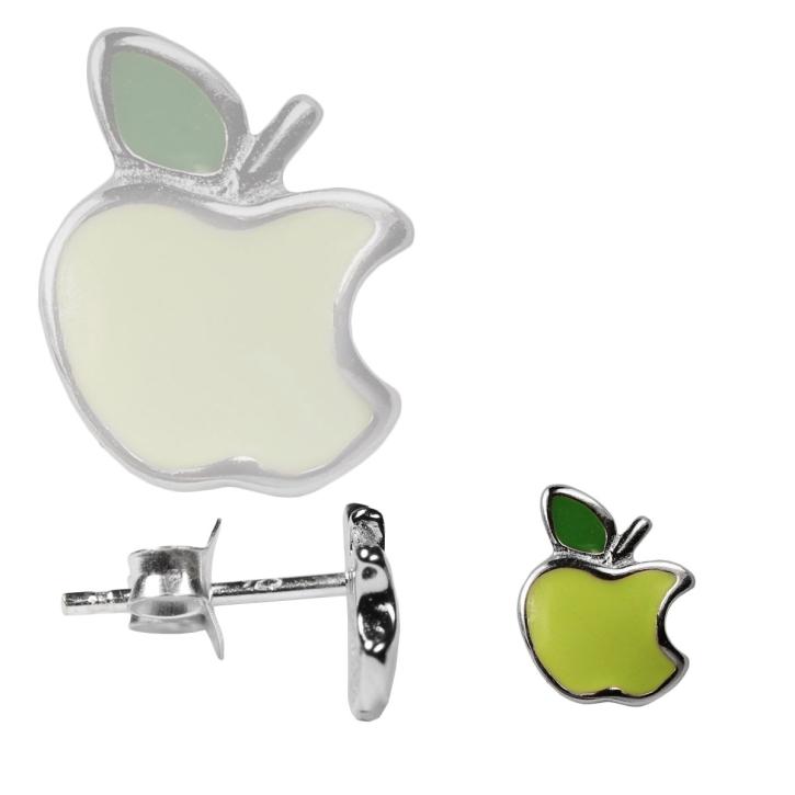 925er Sterling Silber Ohrstecker Apfel in grün