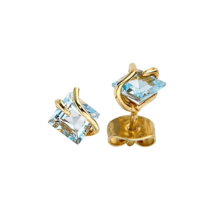 Gold Ohrstecker 375er Gelbgold mit Edeltopas