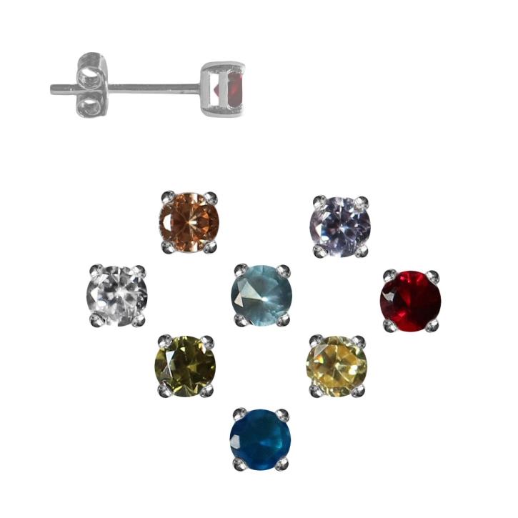 Ohrstecker mit Glasstein in verschiedenen Farben
