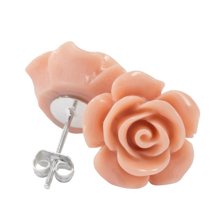 Ohrstecker Rose in beige