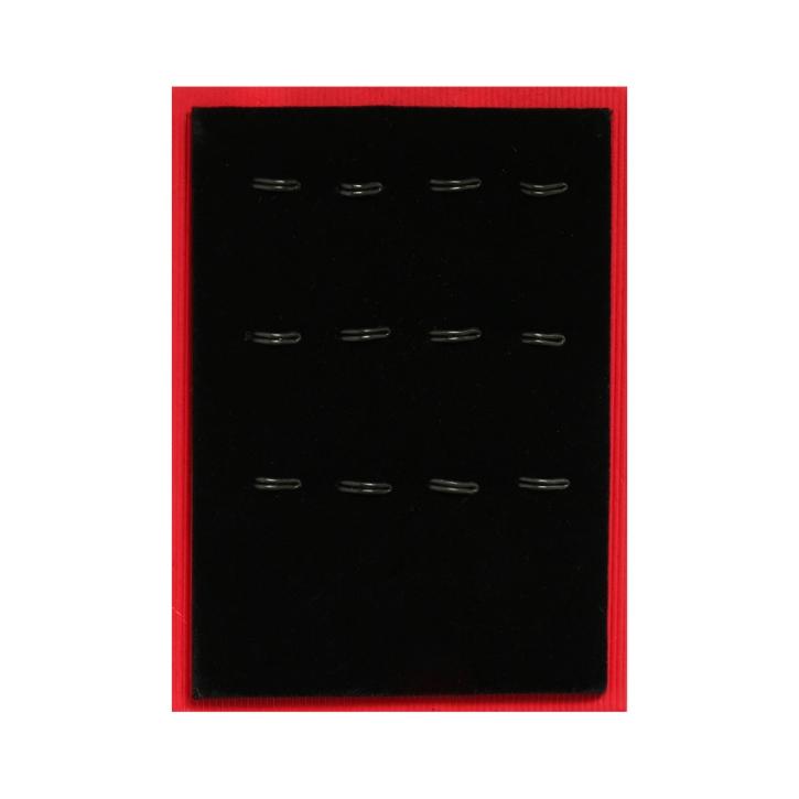 Ohrsteckerkarte mit Drahthaken für 6 Paar