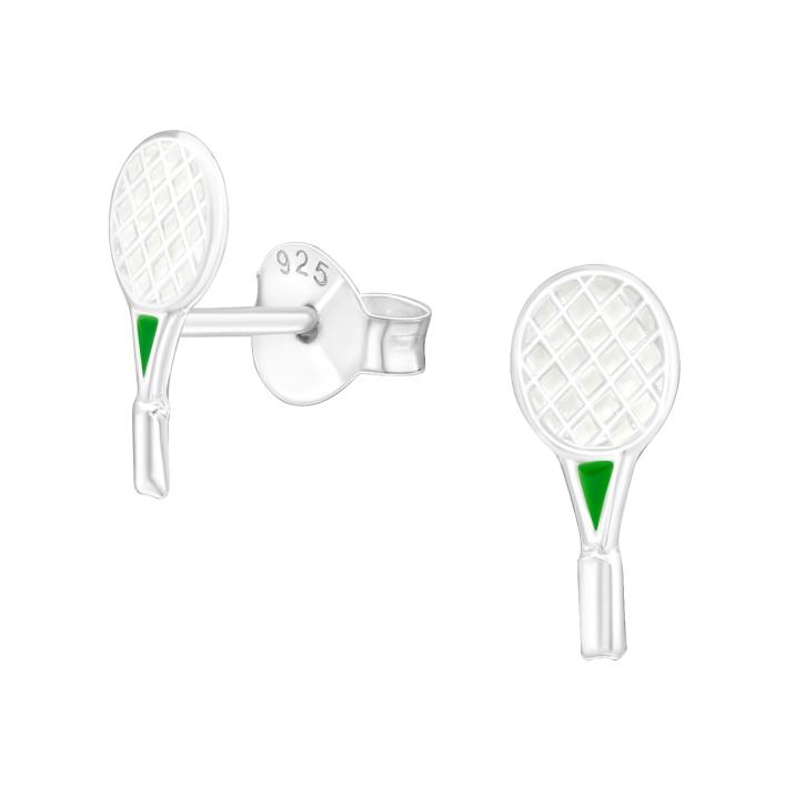 Ohrstecker 925 Sterling Silber mit Badmintonschläger