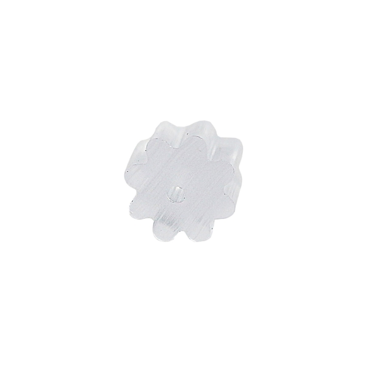 10 x Ohrstecker Stopper transparent gerillt