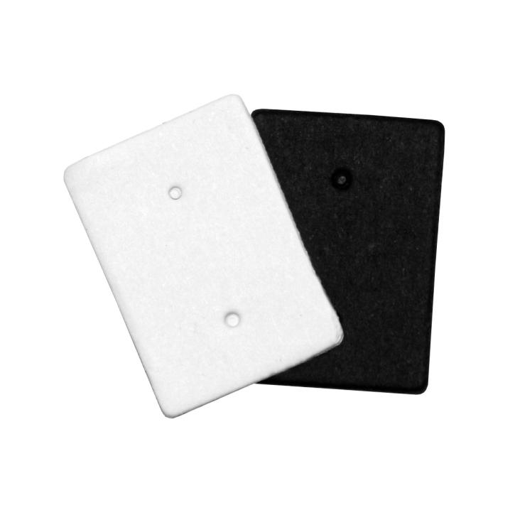 50 x Schmuckkarten Ohrstecker Pappe in weiß oder schwarz