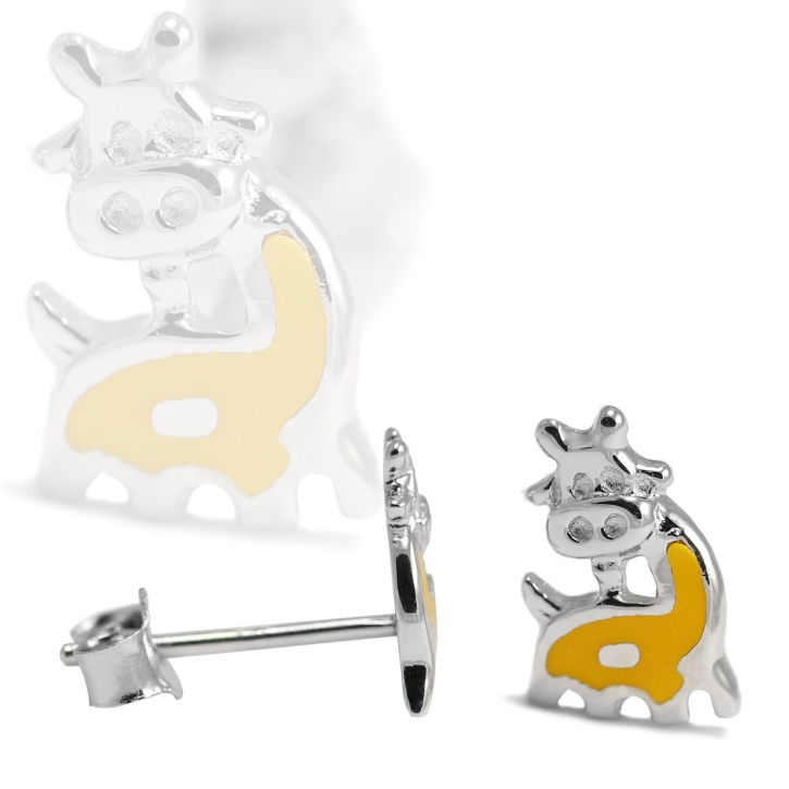 Ohrstecker 925 Sterling Silber mit Giraffe in gelb
