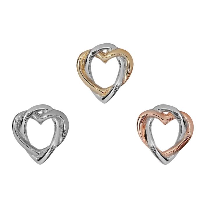 Silber Ohrstecker verschlungene Herzen