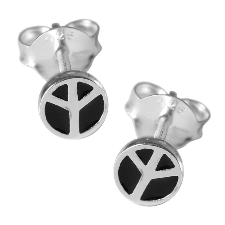 Ohrstecker Peace Symbol 925er Sterling Silber