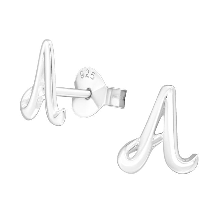 Buchstaben Ohrstecker 925 Sterling Silber mit A