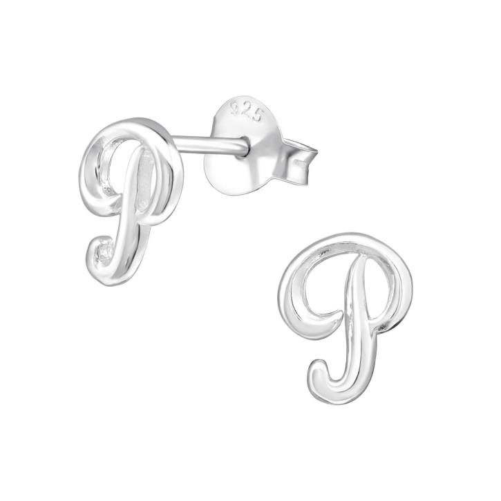 Buchstaben Ohrstecker 925 Sterling Silber mit P