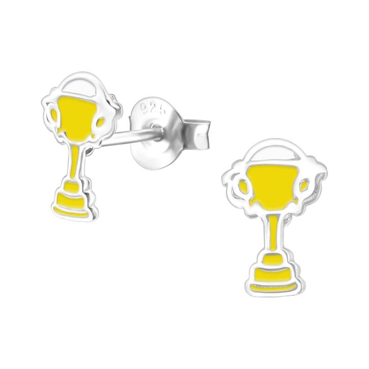Ohrstecker Pokal 925 Sterling Silber Trophäe