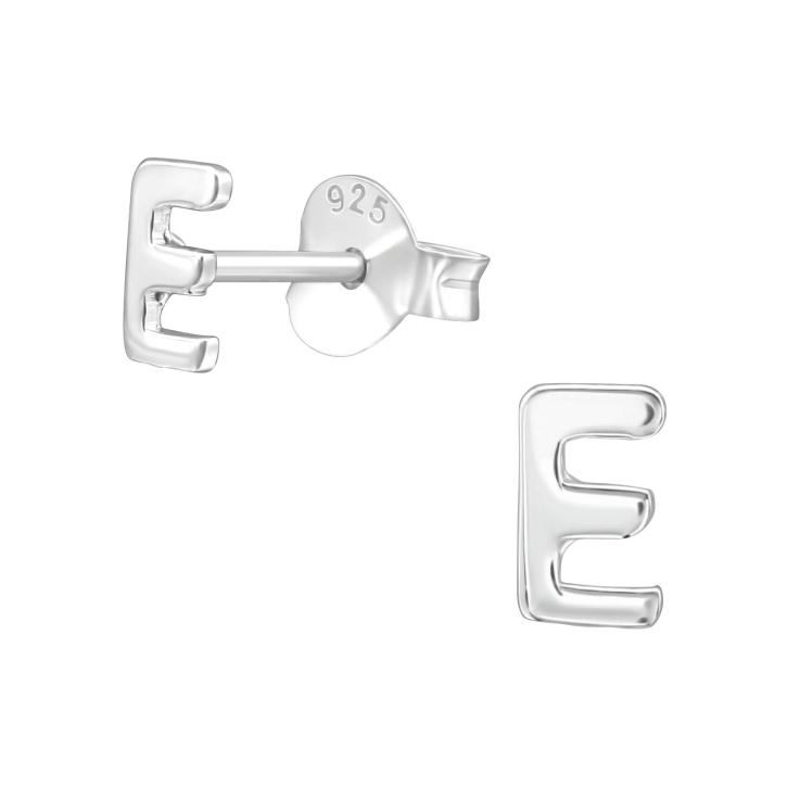 Buchstaben Ohrstecker 925 Sterling Silber mit E
