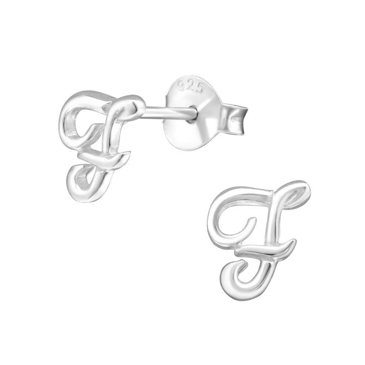 Buchstaben Ohrstecker 925 Sterling Silber mit F