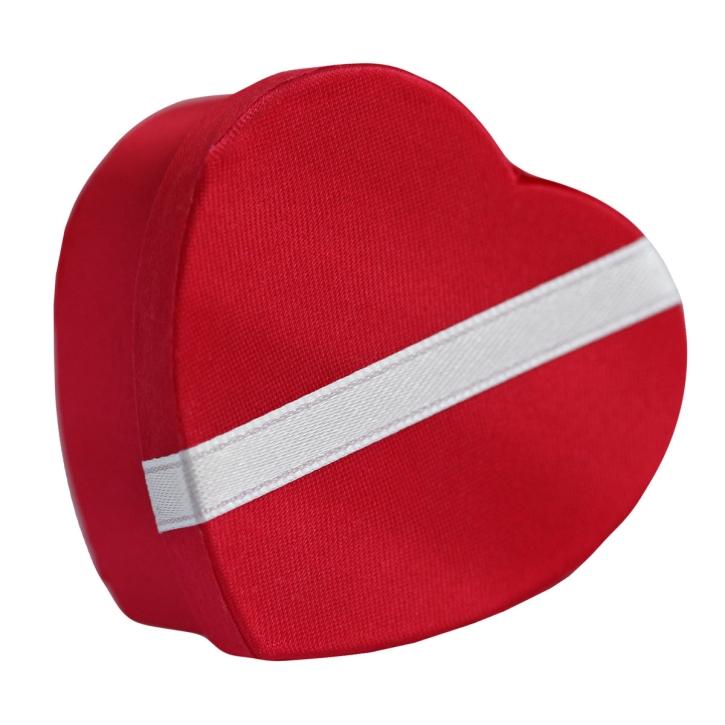 Rote Ohrstecker Schmuckbox in Herzform