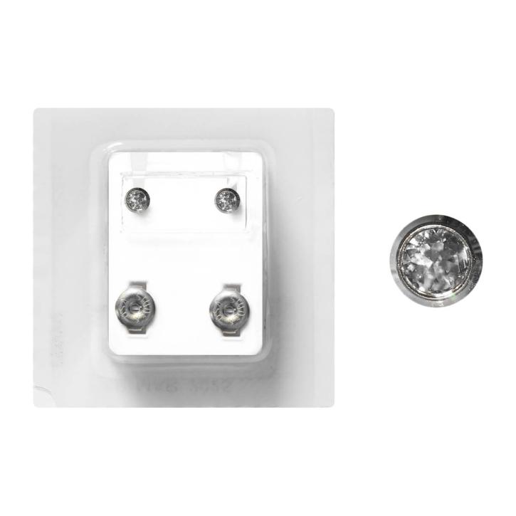 Erstohrstecker Chirugenstahl Sterile Ohrstecker Zarge mit Stein in transparent 4mm