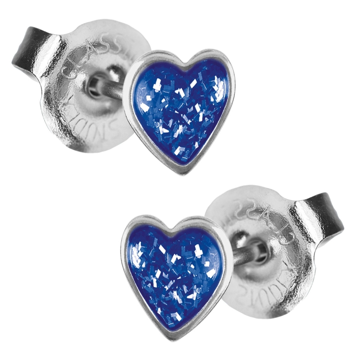 Studex Erstohrstecker Chirurgenstahl Glitterline mit Herz in blau Studex System 75