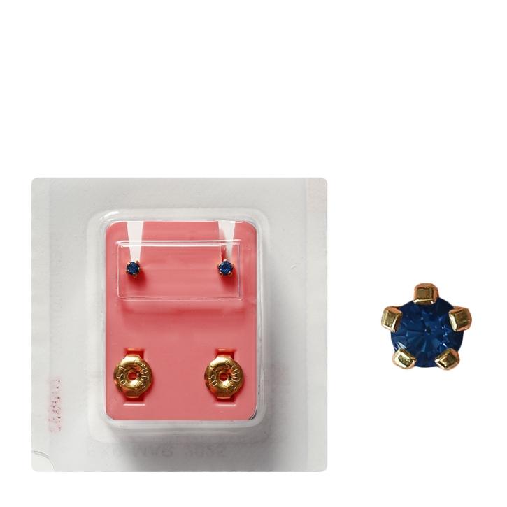 Erstohrstecker vergoldet Sterile Ohrstecker synthetischer Stein blau