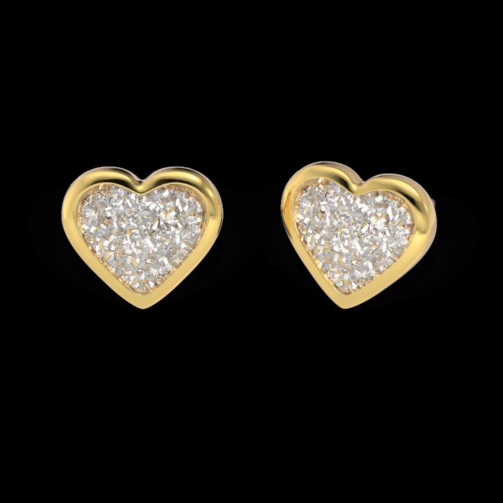 Chirurgenstahl Ohrstecker vergoldet Glitterline mit Herz in transparent Studex Sensitive