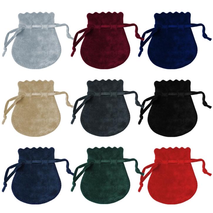Samt Zugbeutel für Schmuck in verschiedenen Farben und Größen