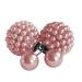 Modeschmuck Doppelperlen Ohrstecker mit kleinen Perlen