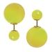 Modeschmuck Doppelperlen Ohrstecker in verschiedenen Neonfarben