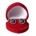 """Mein-Ohrstecker DIY Set """"Silvy"""" 925er Sterling Silber 9-13mm mit roter Schmuckbox"""