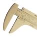 Schiebemass 100mm aus Messing 1/10mm Noninus