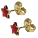 Chirurgenstahl Ohrstecker vergoldet Glitterline mit Stern in rot Studex Sensitive