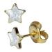 Chirurgenstahl Ohrstecker vergoldet Glitterline mit Stern in transparent Studex Sensitive