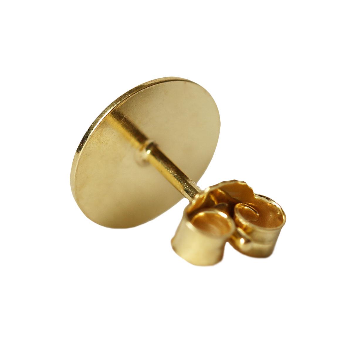 ohrstecker rohling mit platte 925er silber vergoldet 3. Black Bedroom Furniture Sets. Home Design Ideas