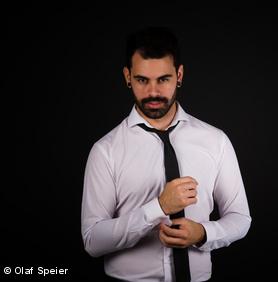 Ohrstecker manner schwarz rund