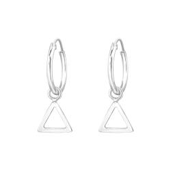 Creolen Ohrringe 925 Sterling Silber mit Dreieck