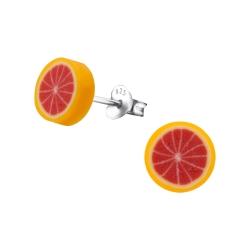 Ohrstecker 925 Sterling Silber mit Grapefruit