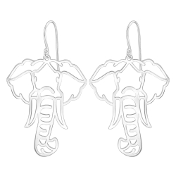 925 Sterling Silber Ohrhaken Ohrhänger mit Elefant