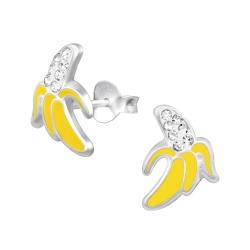 Ohrstecker 925 Sterling Silber mit Banane