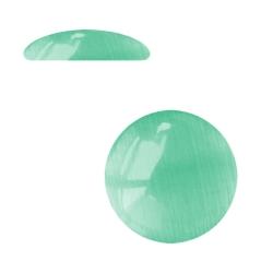 10 x Cabochon Klebstein Katzenauge 10mm in grün